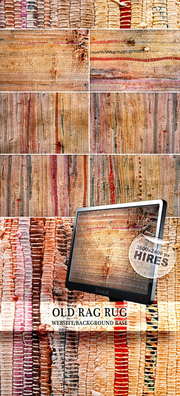 Old Rag Rug - Fabric Textures