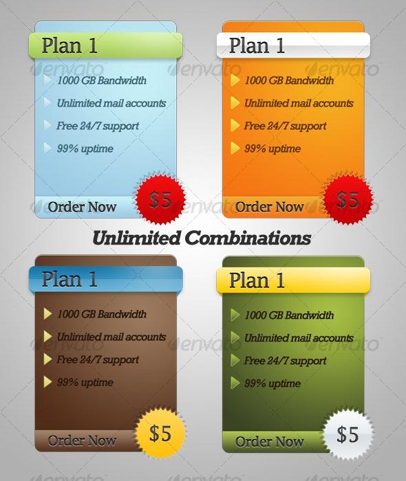 Service Plan Presentation Menus - Miscellaneous Web Elements