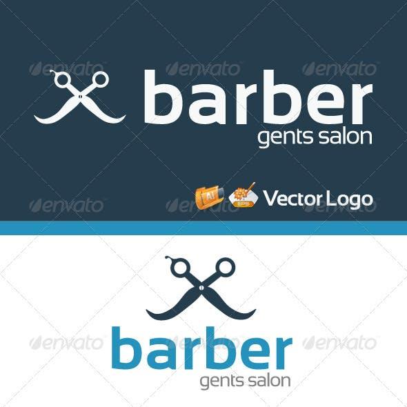 Barber Gents Salon Logo Template