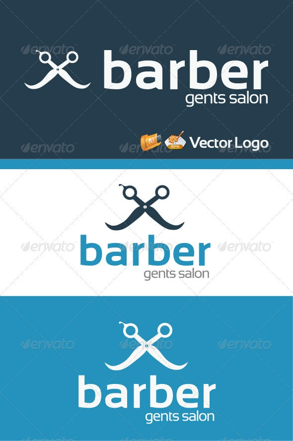 Barber Gents Salon Logo Template  - Objects Logo Templates