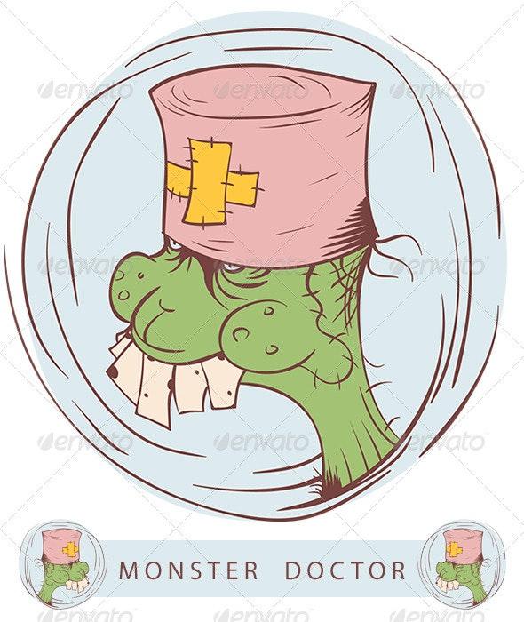 Monster Doctor - Characters Vectors