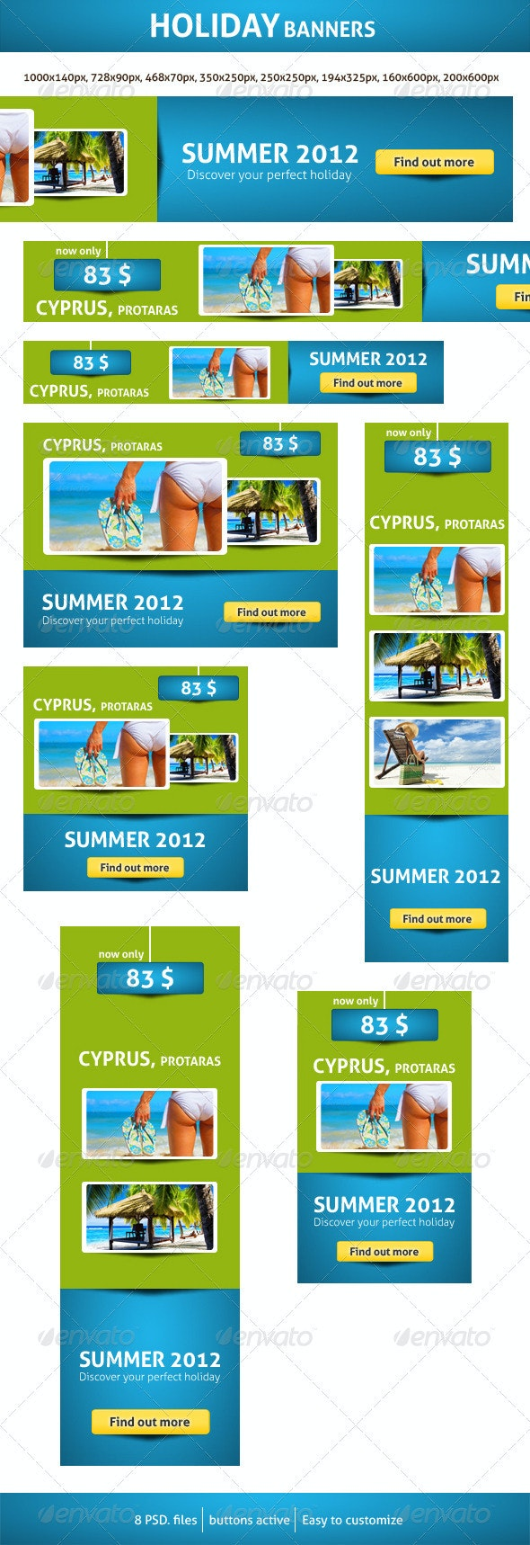 Holiday Banners - Banners & Ads Web Elements