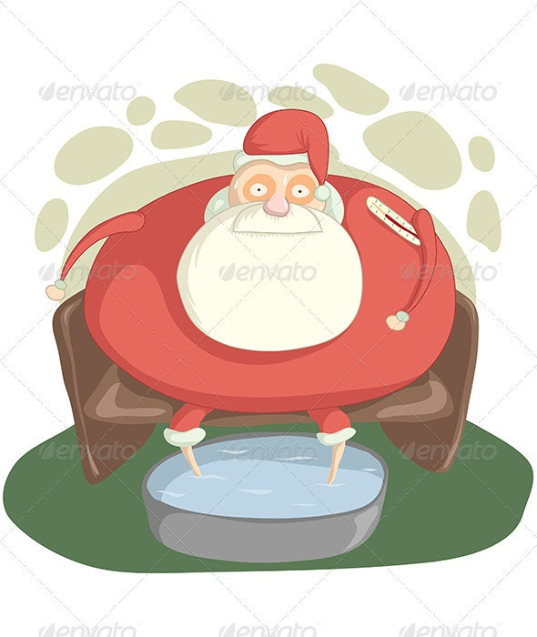 Sick Santa - People Characters