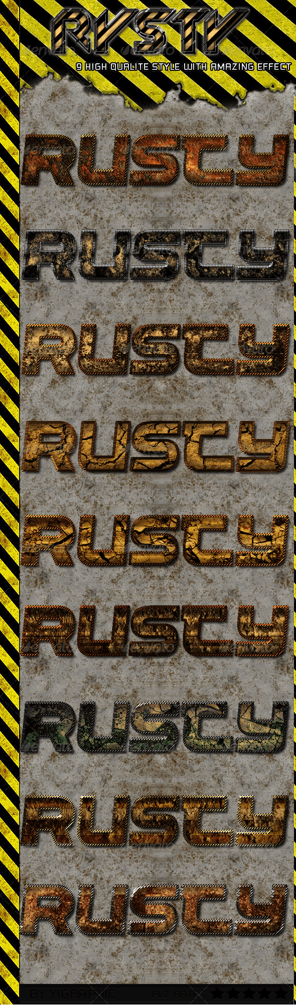 9 Rusty Styles - Text Effects Styles