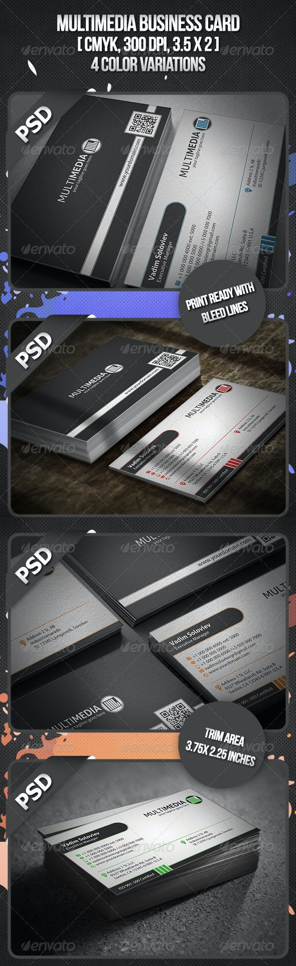 Multimedia Business Card - Corporate Business Cards