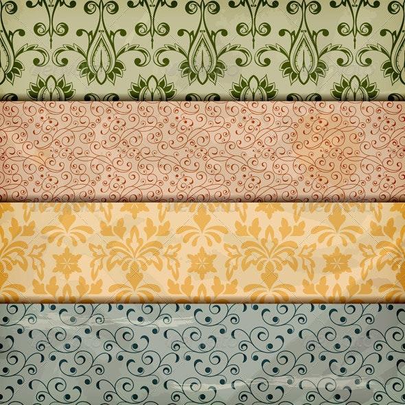 Vector Floral Borders - Patterns Decorative
