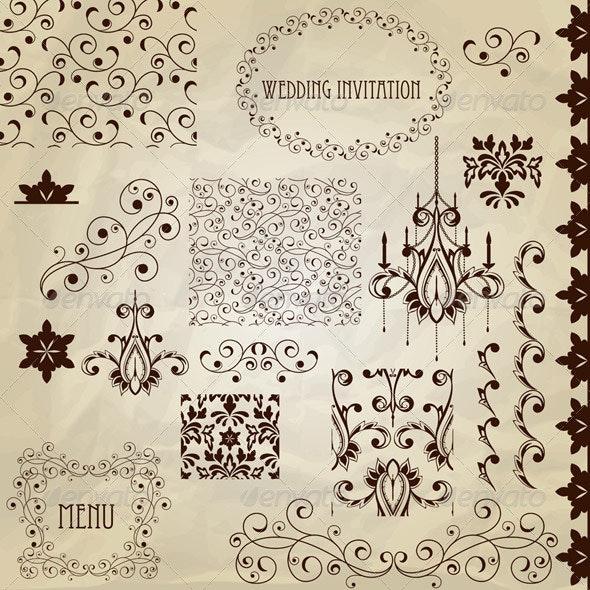 Vector Vintage Design Elements - Patterns Decorative