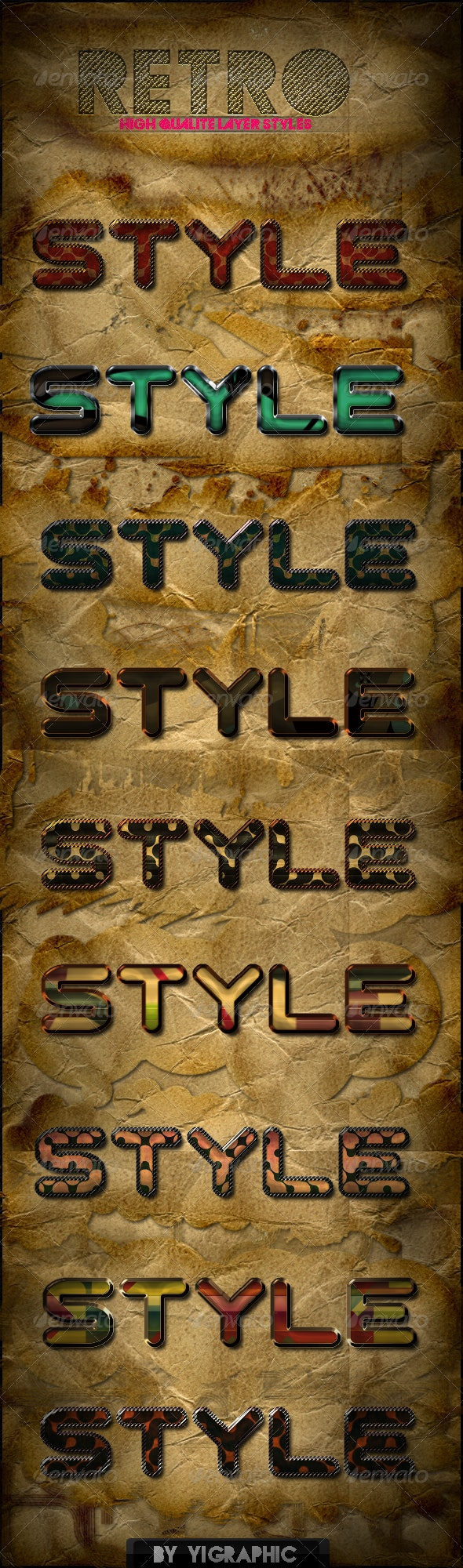 9 Retro Styles - Text Effects Styles