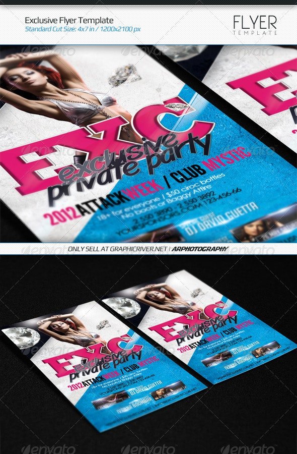 Exclusive Flyer Template - Clubs & Parties Events