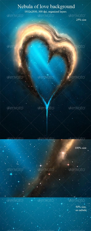 Nebula of Love Background - Tech / Futuristic Backgrounds