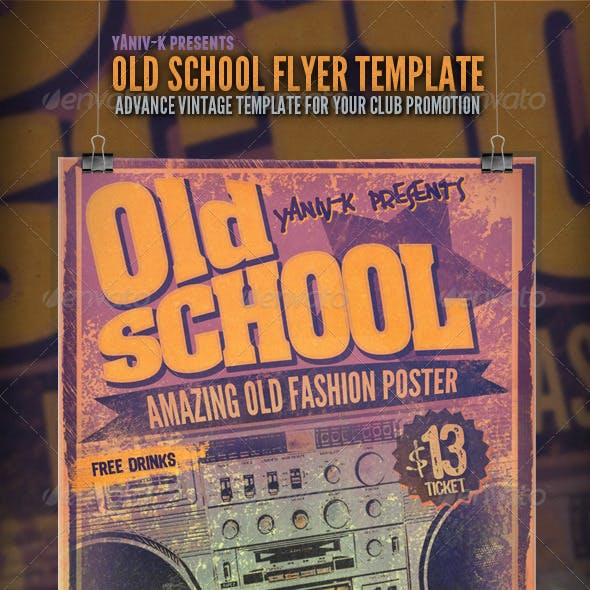 Old School Flyer Template