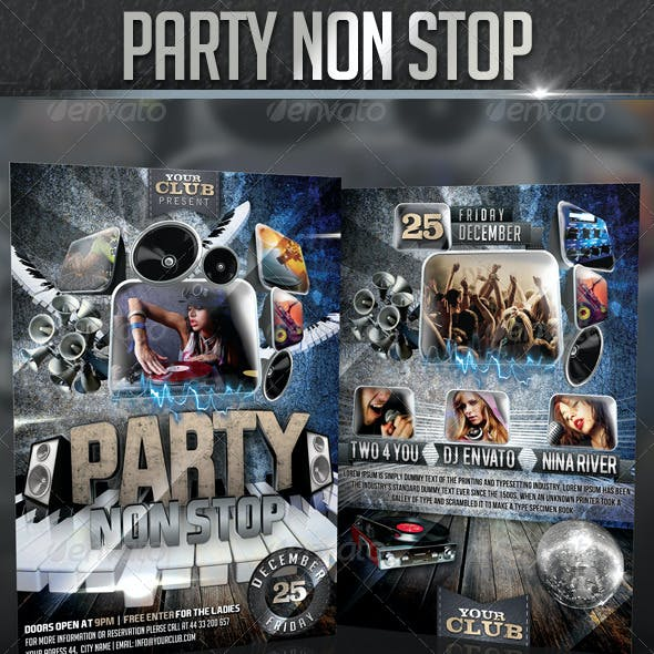 Party Non Stop Flyer Template