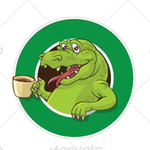 Crock cofee mascot