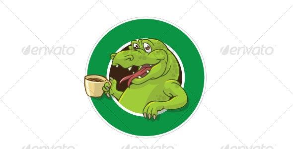 Crock cofee mascot - Animals Characters