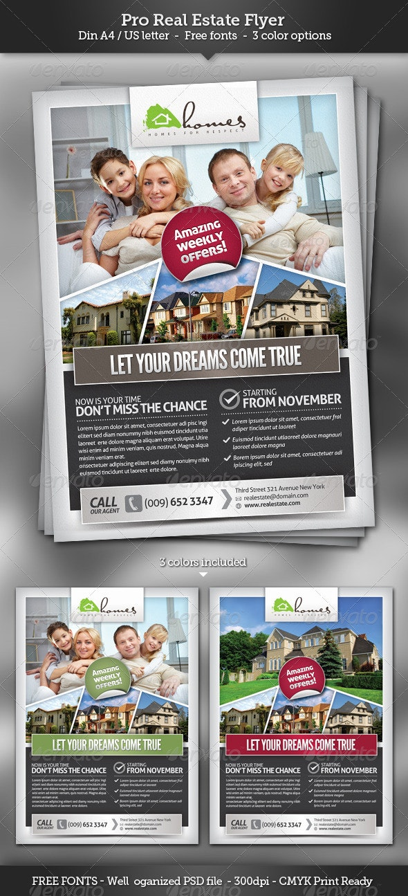 Pro Real Estate Flyer Template - Corporate Flyers