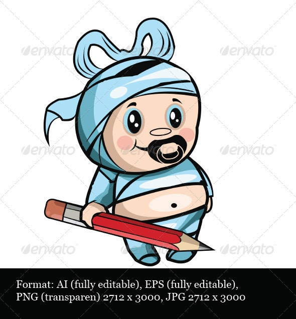 Child With a Pencil - Characters Vectors