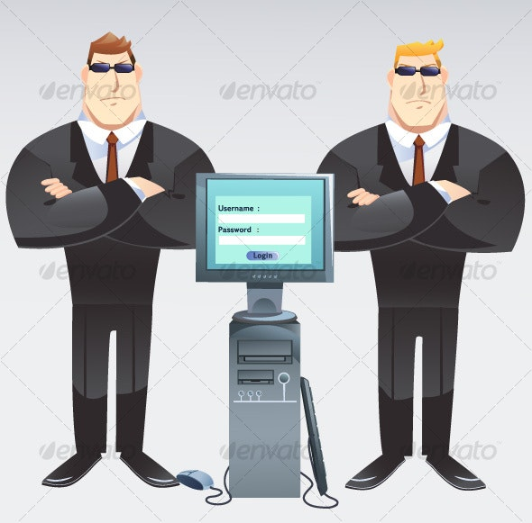 Computer Guard - People Characters