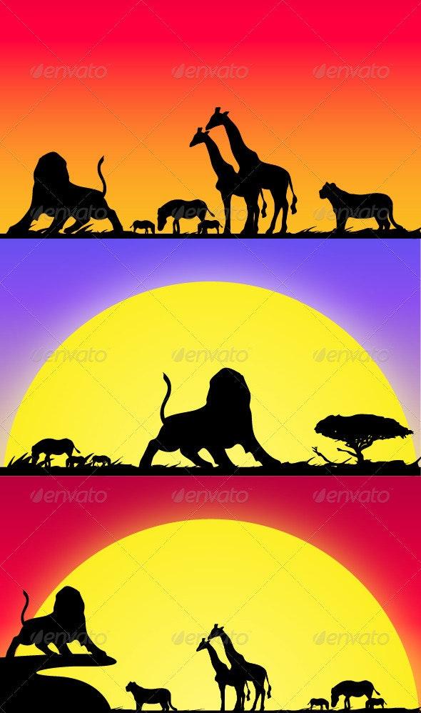 Safari Life - Animals Characters