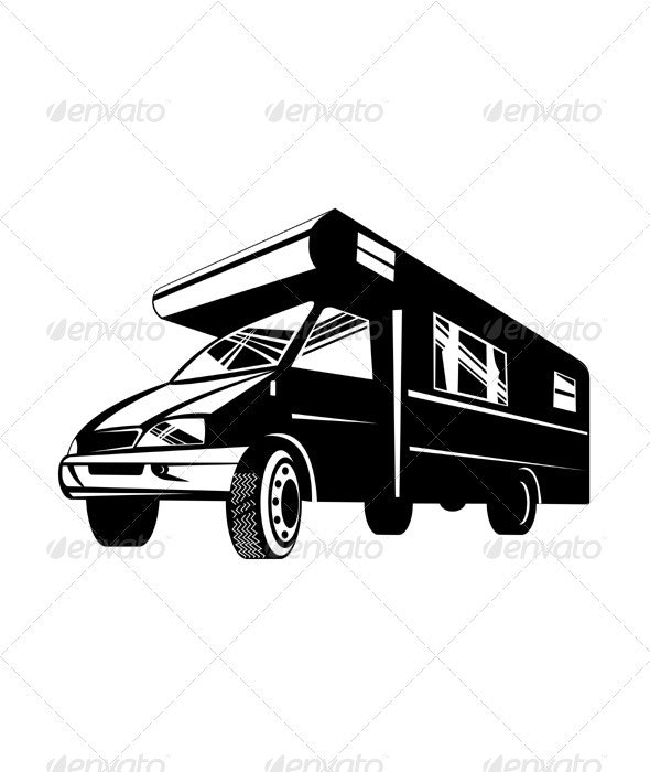 Camper Van Motor Home Retro - Man-made Objects Objects