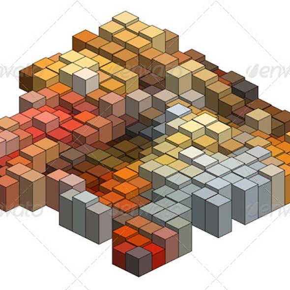 3D Cubes, Abstract Vector