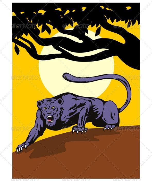 Jaguar Prowling - Animals Characters