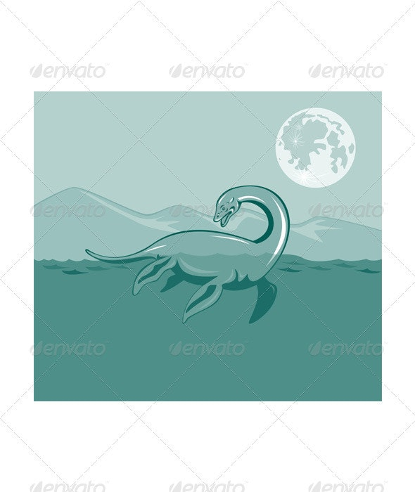 Loch Ness Monster Retro - Monsters Characters