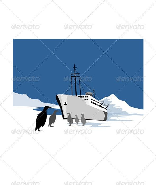 Passenger Ship Cargo Boat Anchor Retro - Man-made Objects Objects