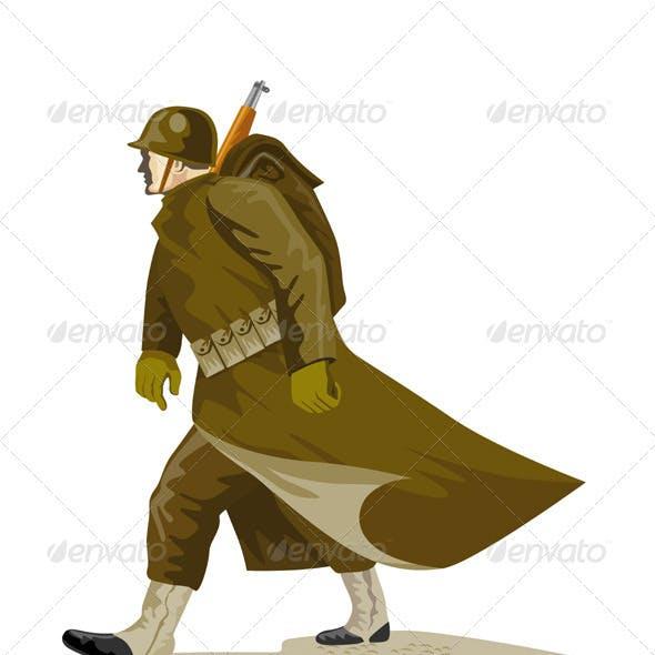 World War Two American Soldier