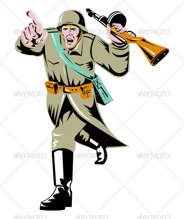 World War Two Soviet Soldier - People Characters