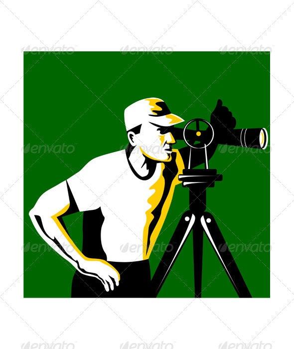 Surveyor Geodetic Engineer Survey Retro  - Industries Business