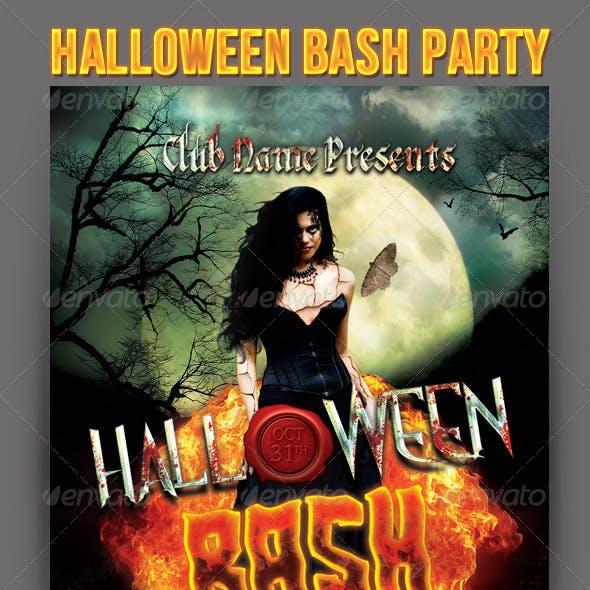Halloween Bash Party Flyer