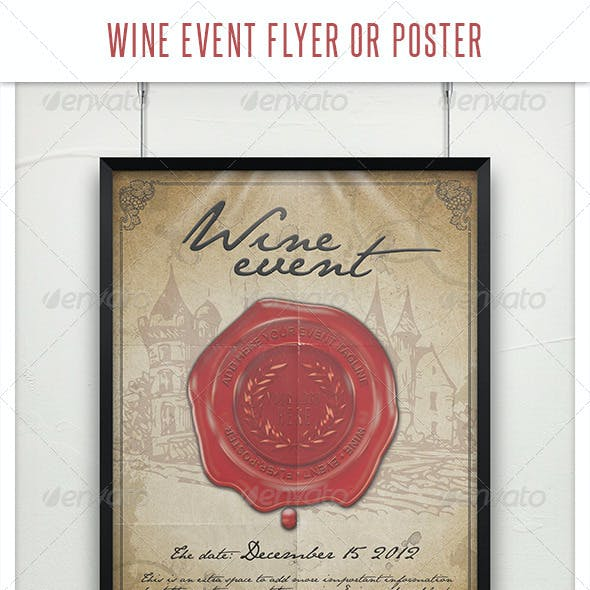 Wine Event Flyer or Poster Template