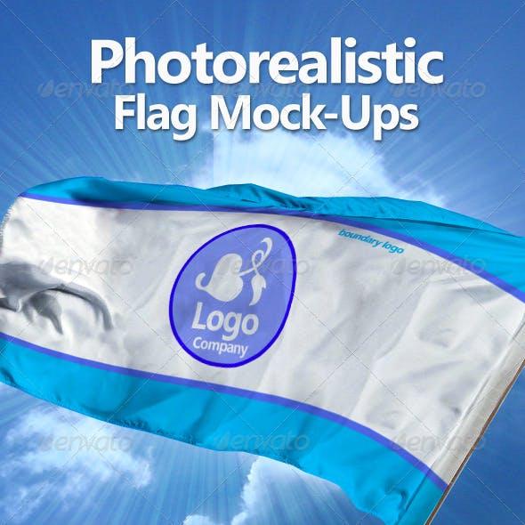 Photorealistic Flag Mock-Ups