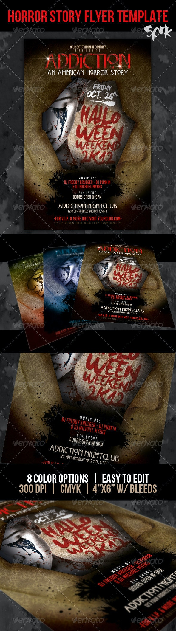 A Horror Story Halloween Party Flyer Template - Clubs & Parties Events