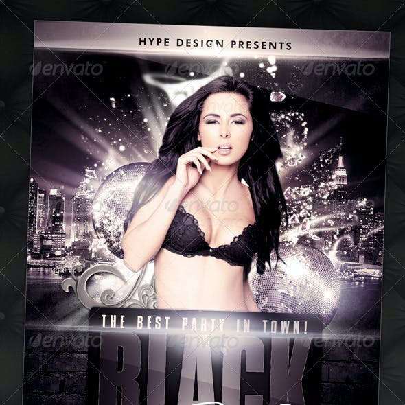 Black Fridays New Years Urban Flyer Template