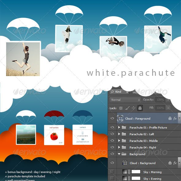 FB Cover | White Parachute