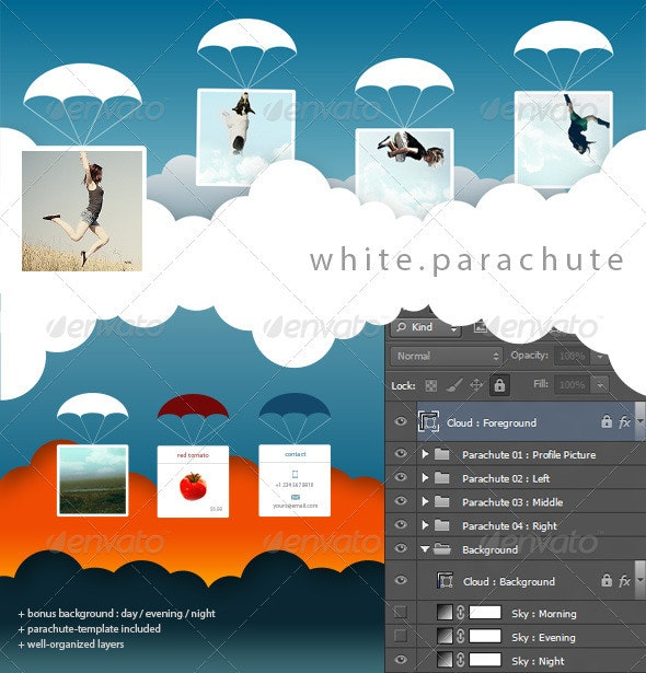 FB Cover | White Parachute - Facebook Timeline Covers Social Media