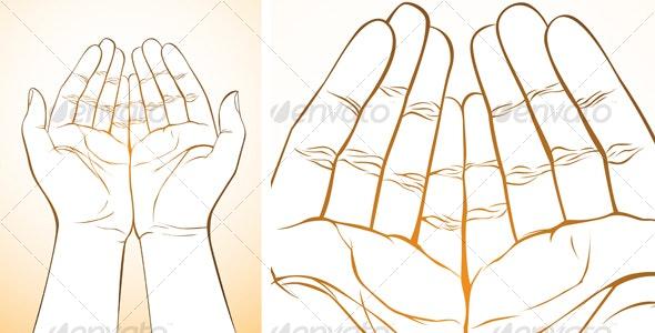 Hand Upward - Decorative Symbols Decorative
