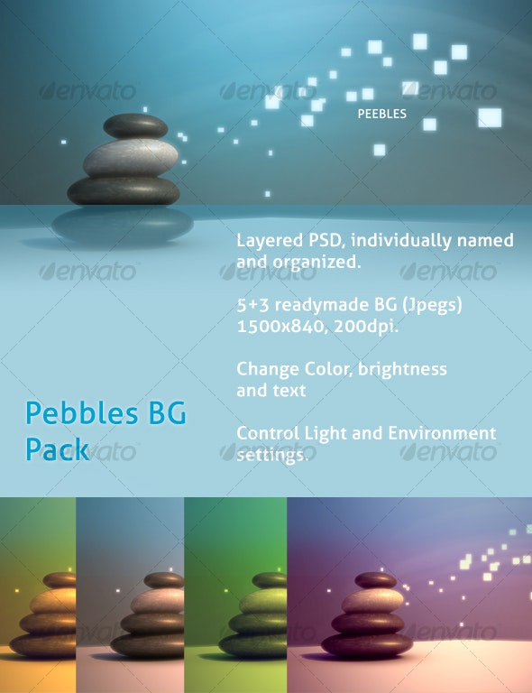 Pebble BG Pack - Abstract Backgrounds