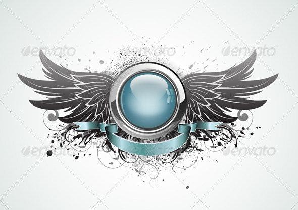 Winged insignia - Decorative Vectors