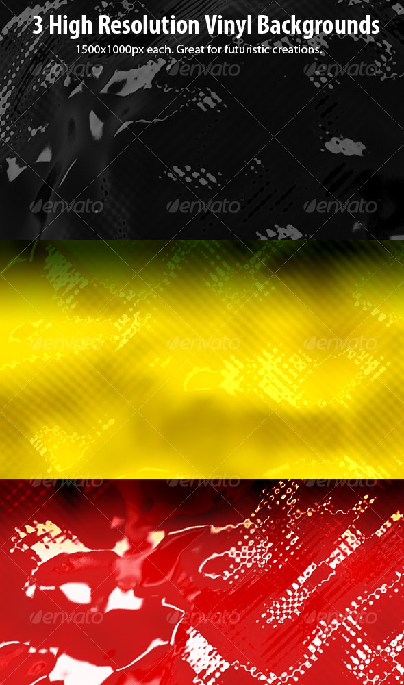 3 Colorful Vinyl Backgrounds - Abstract Backgrounds