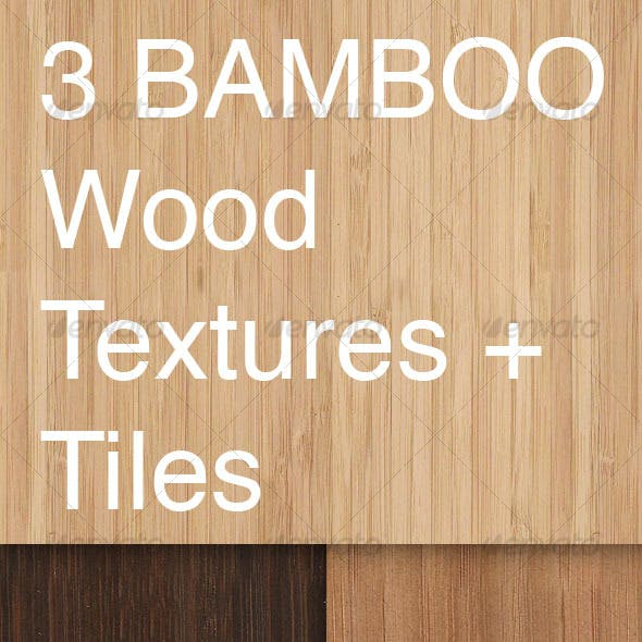3 Tileable Bamboo Textures