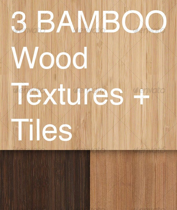 3 Tileable Bamboo Textures - Wood Textures
