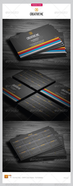 Calendar Business Cards 2013  - Creative Business Cards