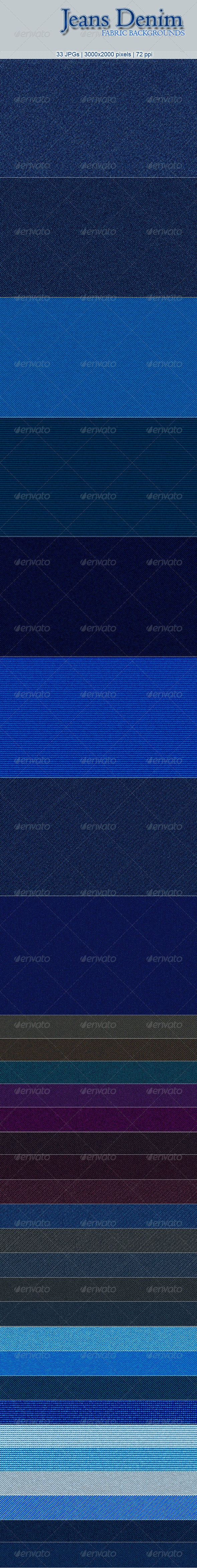 33 Jeans Denim Fabric Backgrounds - Miscellaneous Backgrounds