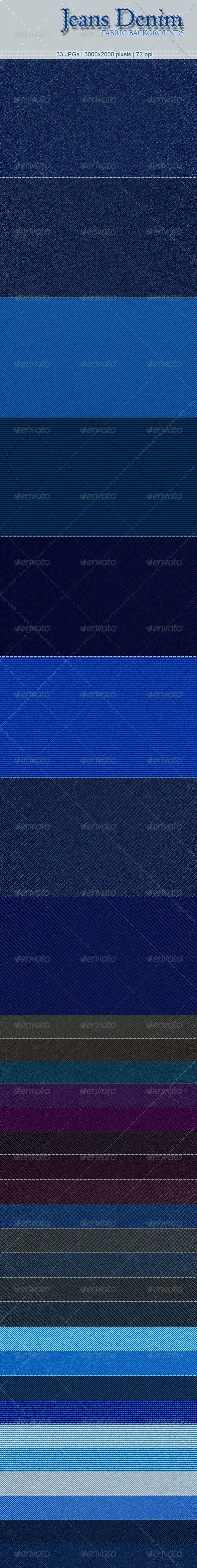 33 Jeans Denim Fabric Backgrounds - Miscellaneous Backgrounds