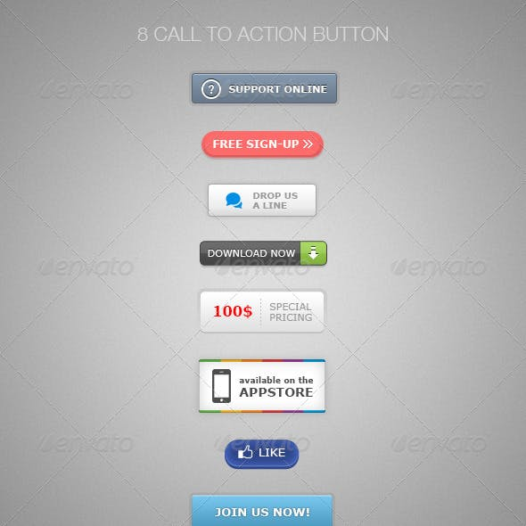 8 Call to Action Buttons