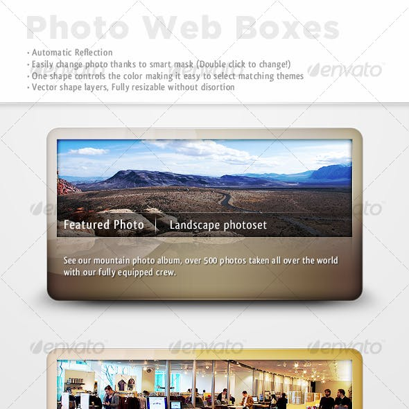 Reflective Photo Web Boxes