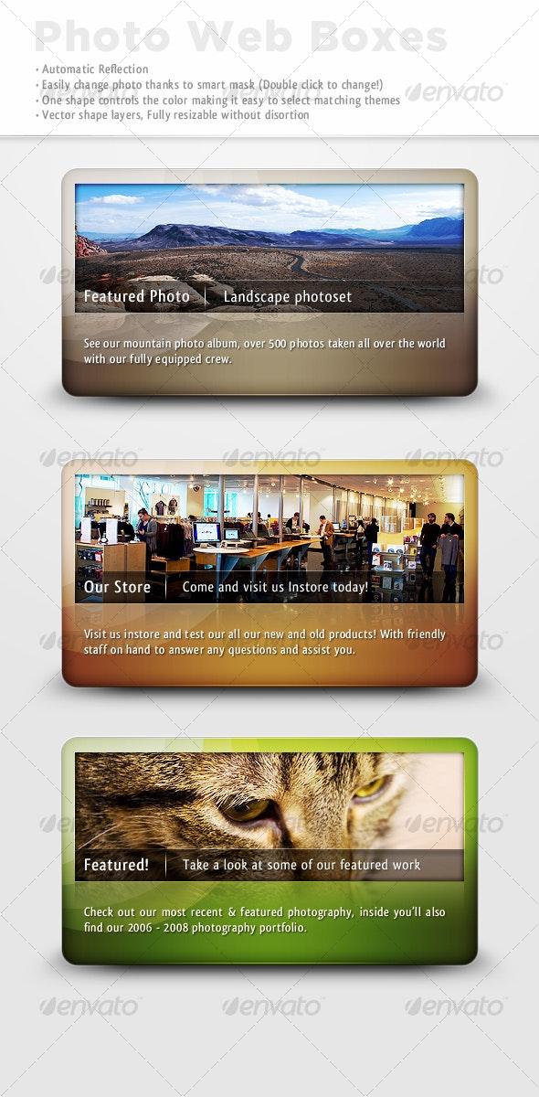Reflective Photo Web Boxes - Miscellaneous Web Elements