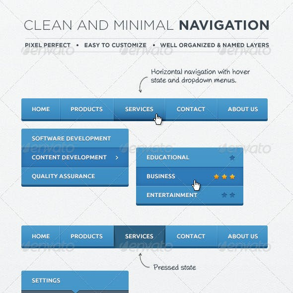 Web Navigation Elements